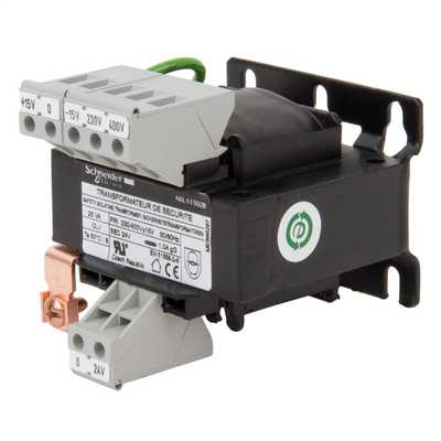 230V or 400V Input  to 24V Output 25VA SP Safety Transformer