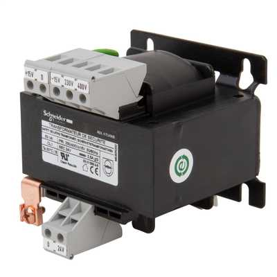 230V or 400V Input to 24V Output 63VA SP Safety Transformer