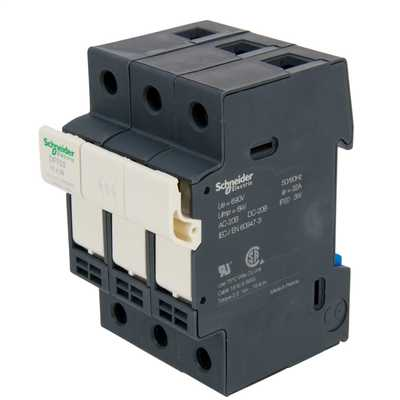 32A TP Fuse Disconnector Black