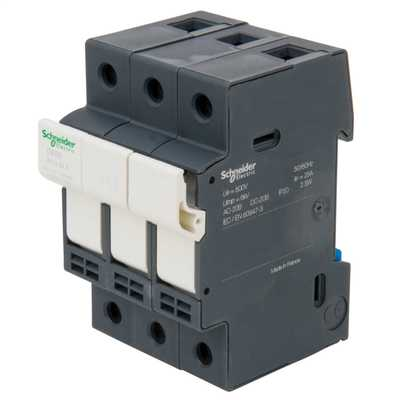 25A TP Fuse Disconnector Black