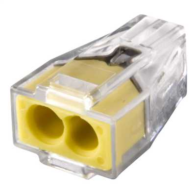 2.5mm Push Wire Connector 2 Conductor (Pack of 100)