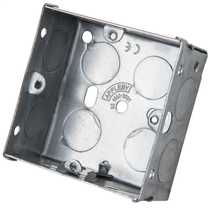 1 Gang 35mm Metal Flush Knockout (KO) Switch and Socket Box (Sold in 1's)