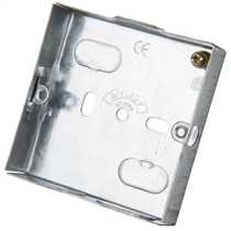 1 Gang 16mm Metal Flush Knockout (KO) Switch and Socket Box (Sold in 1's)