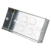 2 Gang 25mm Metal Flush Knockout (KO) Switch and Socket Box (Sold in 1's)