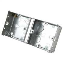 2 Gang 35mm Deep Dual Metal Flush Knockout (KO) Switch and Socket Box (Sold in 1's)