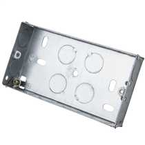 3 Gang 35mm Metal Flush Knockout (KO) Socket Box (Sold in 1's)