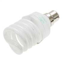 20W BC Compact Fluorescent T2 Ultra Mini Spiral Lamp Warm White
