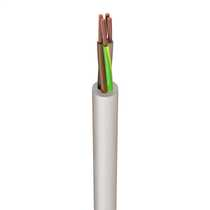 3184TQ 1.0mm² Rubber Insulated Sheathed Flexible Cable White (100m Drum)