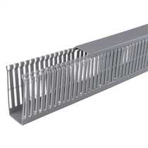 100mm x 40mm Open Slotted Trunking Grey (2m length)
