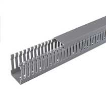 40mm x 25mm Open Slotted Trunking Grey (2m length)