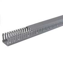 40mm x 40mm Open Slotted Trunking Grey (2m length)