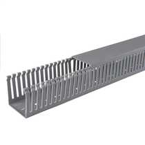 60mm x 60mm Open Slotted Trunking Grey (2m length)