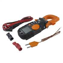 600A AC/DC TRMS Clamp Meter with Temperature