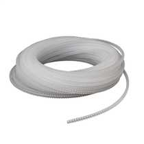 3mm Transparent Crenulated Grommet Strip (Pack of 20m)