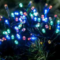 100 Multi Action Battery Operated Multi Colour LED Lights with Timer