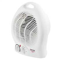 2kW Upright Free Standing Premium Fan Heater with Thermostat White