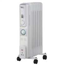 1.5kW Slimline Oil Filled Radiator with 24 Hour Timer White