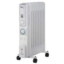 2kW Slimline Oil Filled Radiator with 24 Hour Timer White