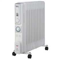 2.5kW Slimline Oil Filled Radiator with 24 Hour Timer White