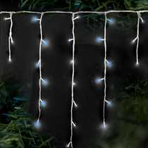 240 Supabrights Snowing Icicles Blue and White LED Lights