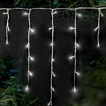 240 Supabrights Snowing Icicles White LED Lights