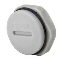 12mm Blanking plug complete with Gasket and Locknut IP68 Grey (Sold in 1's)