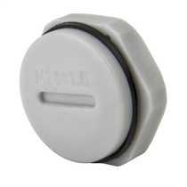 20mm Blanking plug complete with Gasket and Locknut IP68 Grey (Sold in 1's)
