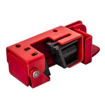 Grip Tight Moulded Case Circuit Breaker Lockout Locates Sideways Red
