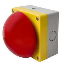 Red Emergency Maintained Switch Diameter 90mm - Pull to Release complete with 1 x NC contact