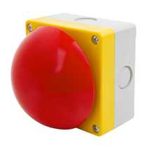 Red Emergency Maintained Switch Diameter 90mm Pull to Release complete with 2 x Normally Closed Contacts