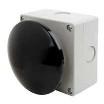 Black Momentary Mushroom Head Switch - Wobble Type90mm Diameter Head and complete with 1 x Normally Open Contact