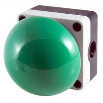 Green Emergency Switch Diameter 90mm - Spring Return (Momentary) complete with 1 x Normally Open and 1 x Normally Closed Contacts