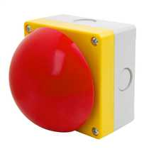 Red Emergency Maintained Switch Diameter 90mm Pull to Release complete with1 x Normally Open and 1 x Normally Closed Contacts
