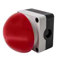 Red Emergency Switch Diameter 90mm - Spring Return (Momentary) complete with 1 x Normally Open and 1 x Normally Closed Contacts