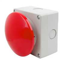 Red Momentary Mushroom Head Switch - Wobble Type90mm Diameter Head and complete with 1 x Normally Open and 1 x Normally Closed Contacts