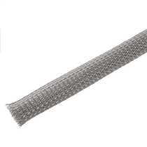 15 to 27mm Expandable Grey Braided Sleeving (Pack of 50m)