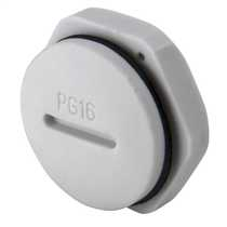 PG16 Blanking plug complete with Gasket and Locknut IP68 Grey (Sold in 1's)
