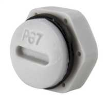 PG7 Blanking plug complete with Gasket and Locknut IP68 Grey (Sold in 1's)