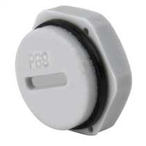 PG9 Blanking plug complete with Gasket and Locknut IP68 Grey (Sold in 1's)