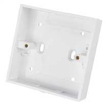 1 Gang 25mm Deep PVC Moulded Surface Pattress Back Box Square Corners White (Sold in 1's)