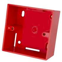 1 Gang 44mm Deep PVC Moulded Surface Pattress Back Box complete with one Mini Trunking Entry Red (Sold in 1's)