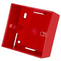 1 Gang 44mm Deep PVC Moulded Surface Pattress Back Box complete with two Mini Trunking Entries Red (Sold in 1's)