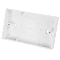 2 Gang 25mm Deep PVC Moulded Surface Pattress Back Box Square Corners White (Sold in 1's)