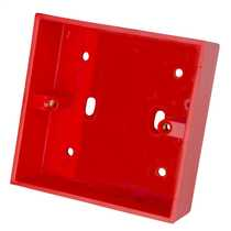 1 Gang 32mm Deep PVC Moulded Surface Pattress Back Box Square Corners Red (Sold in 1's)