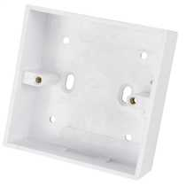 1 Gang 32mm Deep PVC Moulded Surface Pattress Back Box Square Corners White (Sold in 1's)