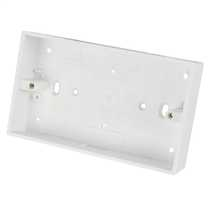 2 Gang 32mm Deep PVC Moulded Surface Pattress Back Box Square Corners White (Sold in 1's)