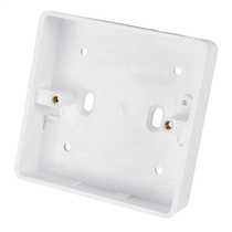 1 Gang 25mm Deep PVC Moulded Surface Pattress Back Box Round Corners White (Sold in 1's)