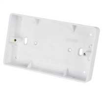 2 Gang 25mm Deep PVC Moulded Surface Pattress Back Box Round Corners White (Sold in 1's)