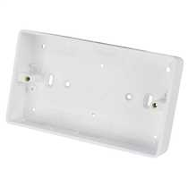 2 Gang 32mm Deep PVC Moulded Surface Pattress Back Box Round Corners White (Sold in 1's)