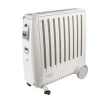 2kW Enviro Sensitive Oil Free Electric Radiator with Thermostat White / Light Grey